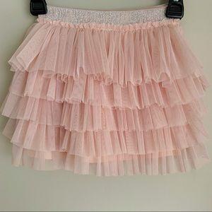 ZARA Pink Layered Tulle Skirt